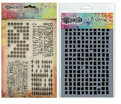 Ranger Dylusions Clear Stamp & Stencil Set - Dyan Reaveley - Basically Square