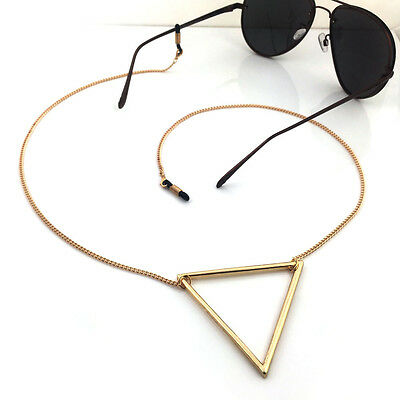 100% handmade Gorgeous Finish Spectacle gold triangle Chain Reading Fashion Free