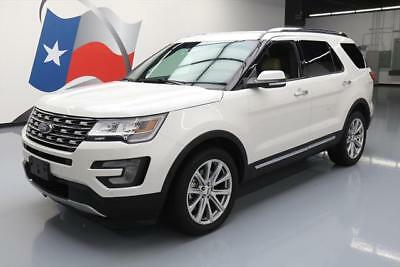 2017 Ford Explorer Limited Sport Utility 4-Door 2017 FORD EXPLORER LTD AWD 7-PASS LEATHER NAV 20'S 39K #A18164 Texas Direct Auto