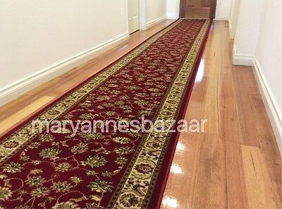 Hallway Runner Hall Runner Rug Red Traditional 7 Metres Long FREE DELIVERY IR2