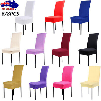 Stretch Removable Dining Chair Cover Washable Slipcover Dinning Cover 6/8Pcs
