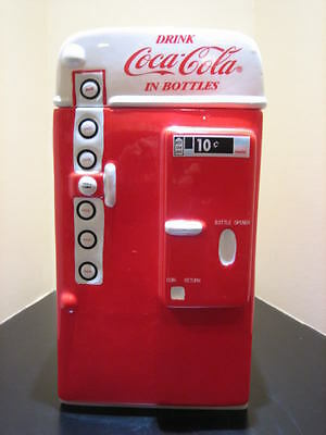 Coca Cola Retro Coke Machine Cookie Jar Canister New IB
