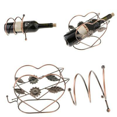 2Pcs Wine Rack 1 Bottle Cooper Holder Rack Free Standing Holder Champagne