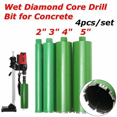 4Pcs/Set 2'' 3'' 4'' & 5'' Combo - Wet Diamond Core Drill Bit for Concrete
