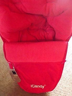 iCandy  Pushchair Footmuff - Red - Redcurrant Fits Strawberry, Apple, Cherry etc