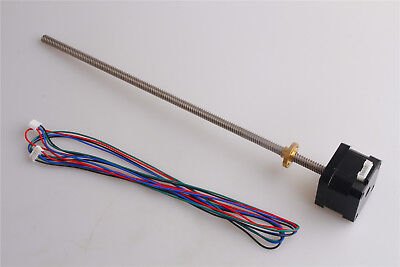 Stepper Motor 0.3Nm 1.3A NEMA 17 for CNC 3D Printer with 300mm T8 Lead Screw