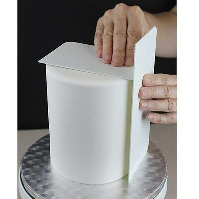 """PME Tall 8"""" Plain Edge Side Scraper Icing Buttercream Smoother Cake Decorating"""