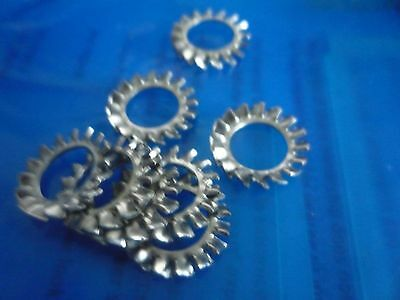 Packs of 50  M10 Shakeproof Washers EXTERNAL A4 Stainless Steel (Marine)