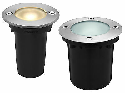 LED Ground Walkover Lights Outdoor Round Decking Light Stainless Steel