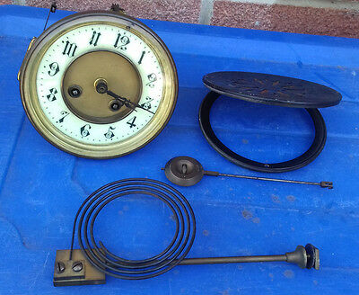 Old Brass Clock Parts