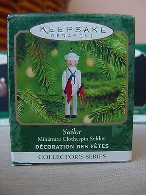 SAILOR MINIATURE HALLMARK CLOTHESPIN Soldier Christmas ORNAMENT #6 Series 2000 w