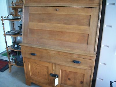 Antique Country Cupboard W/bins,  Bakery Board, Lg Drwer, Doors, Spice Drawers