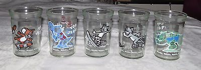 Welch's Tom & Jerry FIVE Jelly Jars