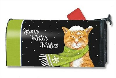 Magnet Works It's Cold Outside Kitten Original Magnetic Mailbox Wrap Cover