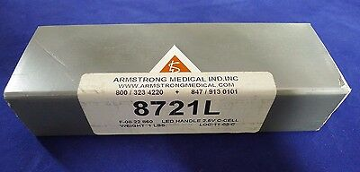 Armstrong Medical 8721L LED Laryngoscope Handle 2.5V C-Cell NEW