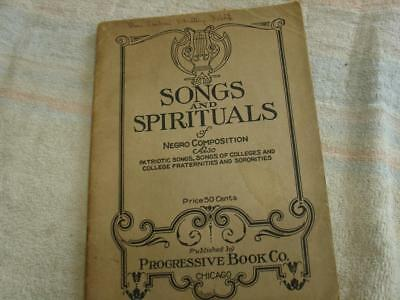 Songs and spirituals of Negro composition