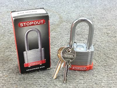 "Stopout Steel Padlock w/ Steel Shackle Body Height: 1.5"" Shackle height: 1.5"""