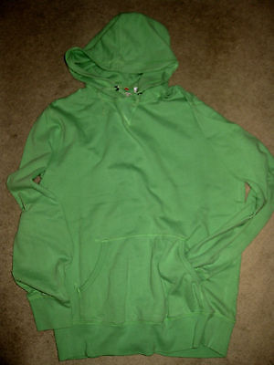 UNIQLO LIME GREEN Classic HOODIE Baggy SWEAT TOP JUMPER SWEATER Pockt Front M