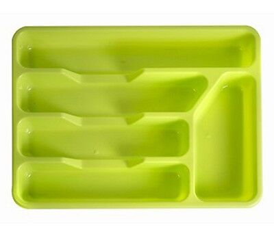 Rm804G Plastic Small Cutlery Tray In Bright Colours- Green (0400)