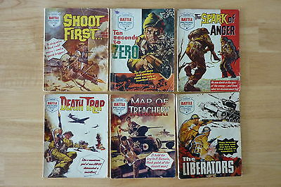 6 Battle Picture Library Comics.Low Numbers 24-162.RARE.Like Commando.Job Lot