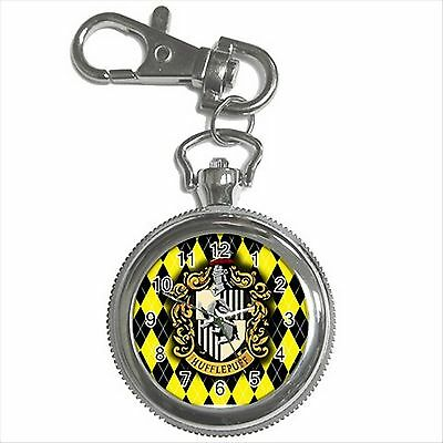 NEW HARRY POTTER HUFFLEPUFF HOGWARTS SCHOOL Key Chain Ring Watch Gift D05