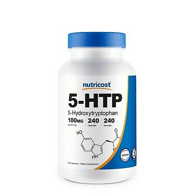 Nutricost 5-HTP 100mg, 240 Capsules (5-Hydroxytryptophan) - Gluten Free, Non-GMO