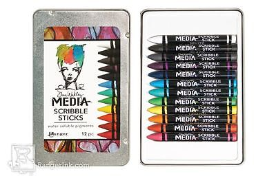 Ranger Dina Wakley Media 12 Scribble Sticks - Water-Soluable Mixed Media Pigment
