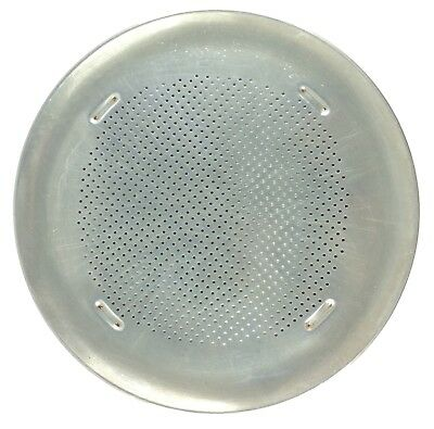 Vintage Perforated Ventilated Round Commercial Aluminum 16 Inch Pizza Pan