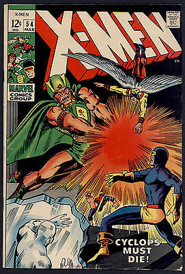 X-Men #54 Fine 1st Appearance of Alex Summers Silver Age Marvel Comics 1969 SA