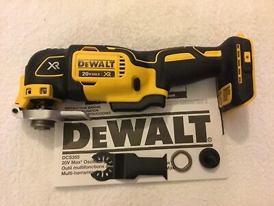 New Dewalt DCS355B 20V 20 Volt Max XR Cordless Brushless Oscillating Multi Tool