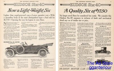 1914 Hudson Motor Car Cabriolet Roadster Ad Detroit MI Six-40 6-40 Advertising