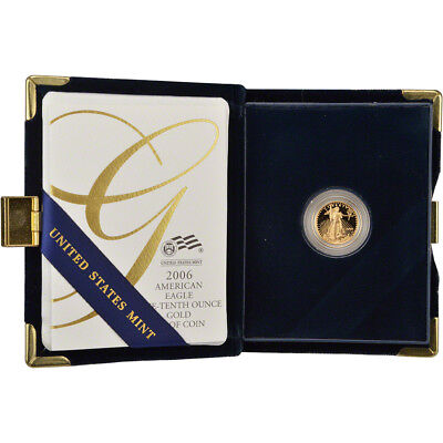 2006-W American Gold Eagle Proof (1/10 oz) $5 in OGP
