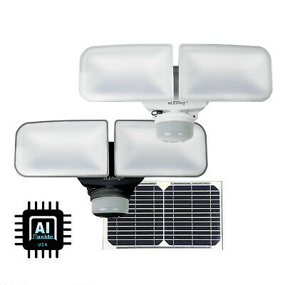 Solar LED Dual Head 1200LM SMART Motion Sensor Security Light Dusk to Dawn Lamp