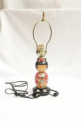 Wooden Japanese Doll Lamp Works!
