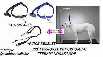 SPEED NOOSE QUICK RELEASE/ADJUSTABLE RESTRAINT LOOP For Grooming Table Arm Bath