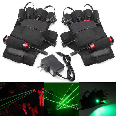 Green Laser Glove Lighting Visible Beam Stage DJ Dancer Show 4 Module 532nm