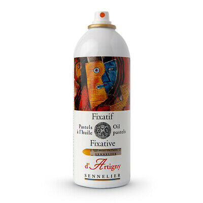 Sennelier : Oil Pastel Aerosol Fixative : 400ml : By Road Parcel Only