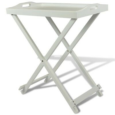 Homestyle Table d'appoint en MDF Pliable Blanche Tables d'appoint Table pliable
