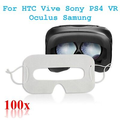 100x Universal Hygiene Eye pad Face Mask For HTC Vive Sony PS4 VR Oculus Samung