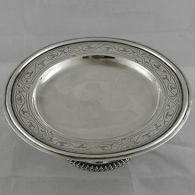 Antique Victorian Silver Pedestal Dish Church Collection Plate John Keith 1863