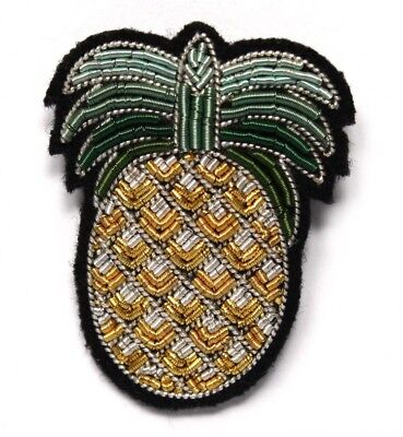 Broche Ananas Macon et Lesquoy Brodée Pinapple Brooch