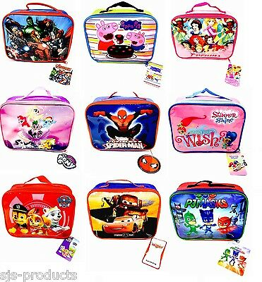 Kids Boys Girls Character Lunch Bag Lunchbag Lunchbox Pack Bag School Insulated