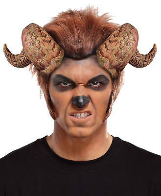 Twisted Bull Beast Horns Curled Adult Men'S Costume Accessory Halloween Party
