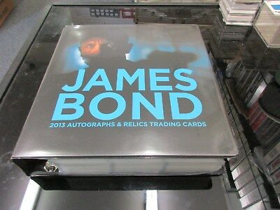 2013 James Bond Autographs & Relics Complete Master Set w/ Silver and Gold Sets