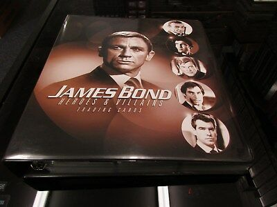 2010 James Bond Heroes & Villains Complete Master Set And Rittenhouse Archives