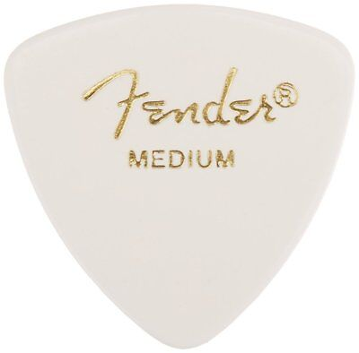 Fender 346 Classic Celluloid Guitar Picks - WHITE - MEDIUM - 12-Pack (1 Dozen)