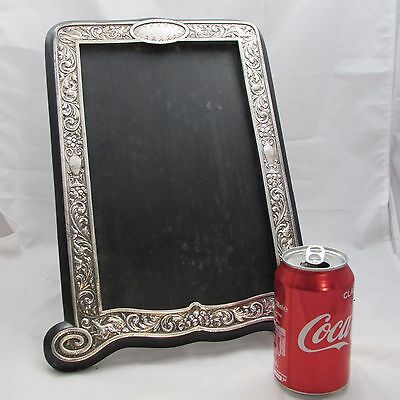 Superb Large Antique Victorian Silver Photograph Frame Mirror London 1885