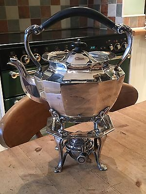 ANTIQUE SCOTTISH SILVER SPIRIT KETTLE EDINBURGH 1915 HAMILTON INCHES  53.5 Oz