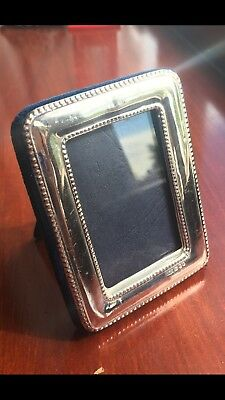 British Hallmark Small Sterling Silver Picture Frame London 1991