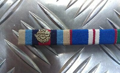 Genuine British Military Issue Medal Ribbon Bar Metal Rosette Decoration - NEW